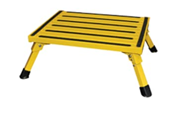 Safety Step (F-08C Y) Yellow 15u0026quot; x 19u0026quot; Large Folding  sc 1 st  Amazon.com : large folding step stool - islam-shia.org