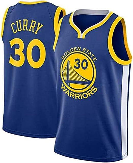 BeKing NBA Stephen Curry Jerseys - Golden State Warriors NO.30 Camiseta de Jugador de Baloncesto Tela Bordada Camiseta de Fan para Hombre: Amazon.es: Ropa y accesorios