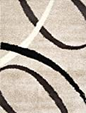 """Home Dynamix S1000-150  Synergy Collection Area Rug, 19"""" x 31"""", Beige"""