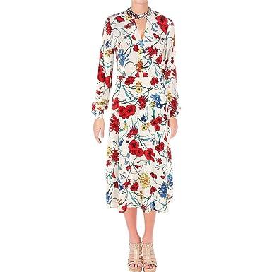 bb8fc97049d504 Juicy Couture Women s Silk Wildflowers Midi Dress Angel Silk Wildflower 2