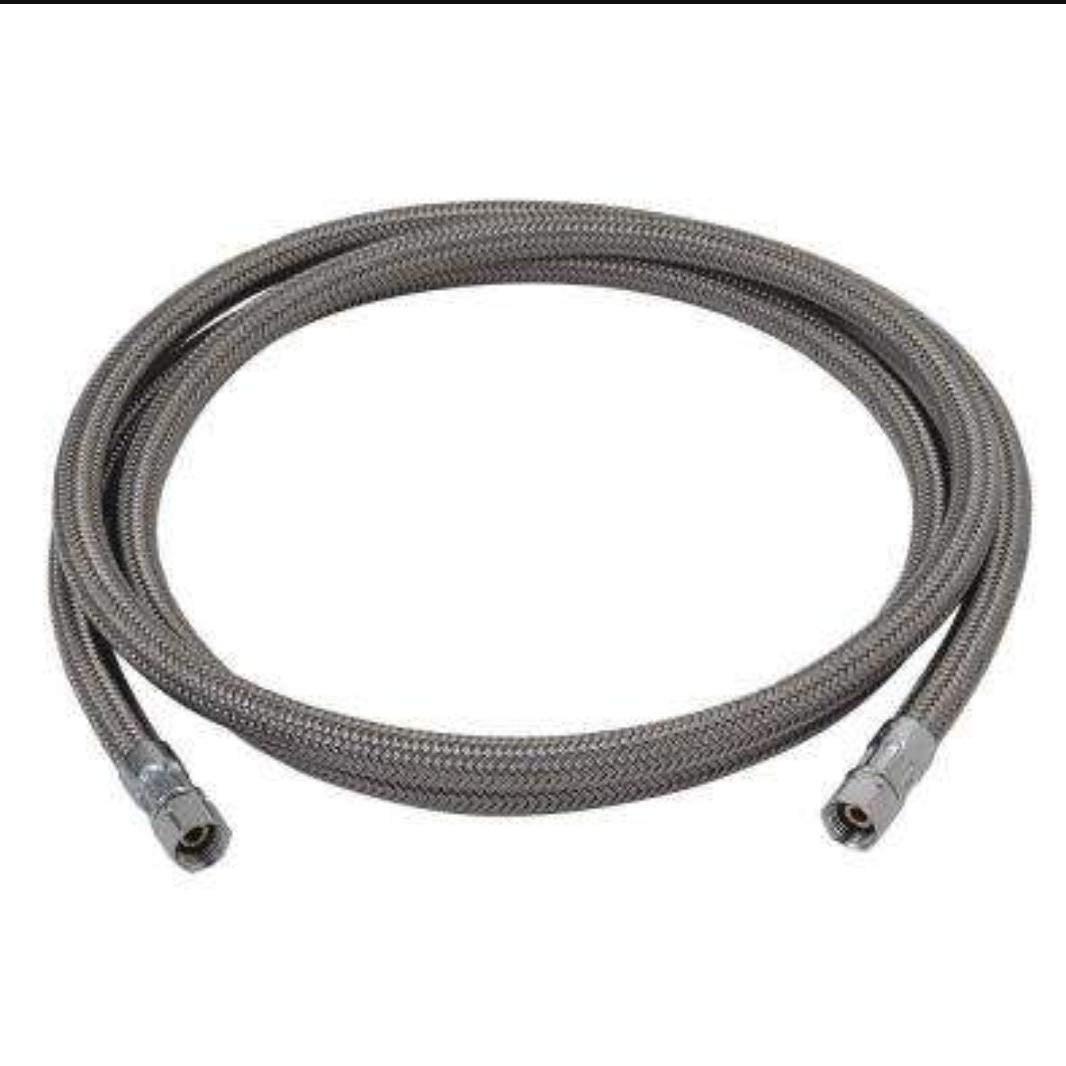 Peerless Flexible Polymer Braided Connector 1/4 in Comp 6FT in Length, Ice Maker/Humidifier/Water Filter
