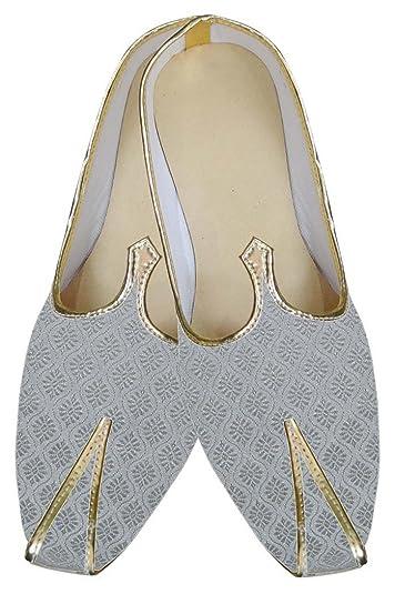 Mens Silver Designer Wedding Shoes MJ0103