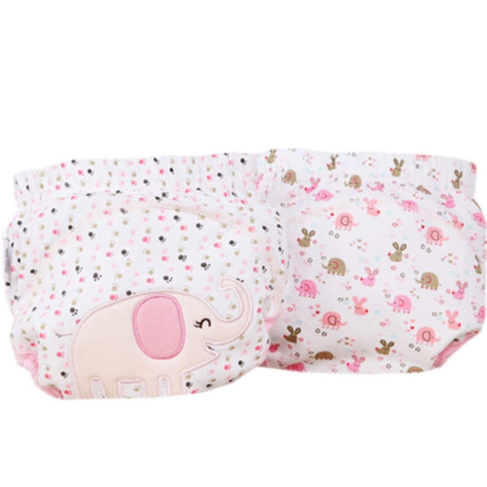 2 PCs Elephant Pink Toddlers Reusable Washable Baby Newborn Diaper Pants M