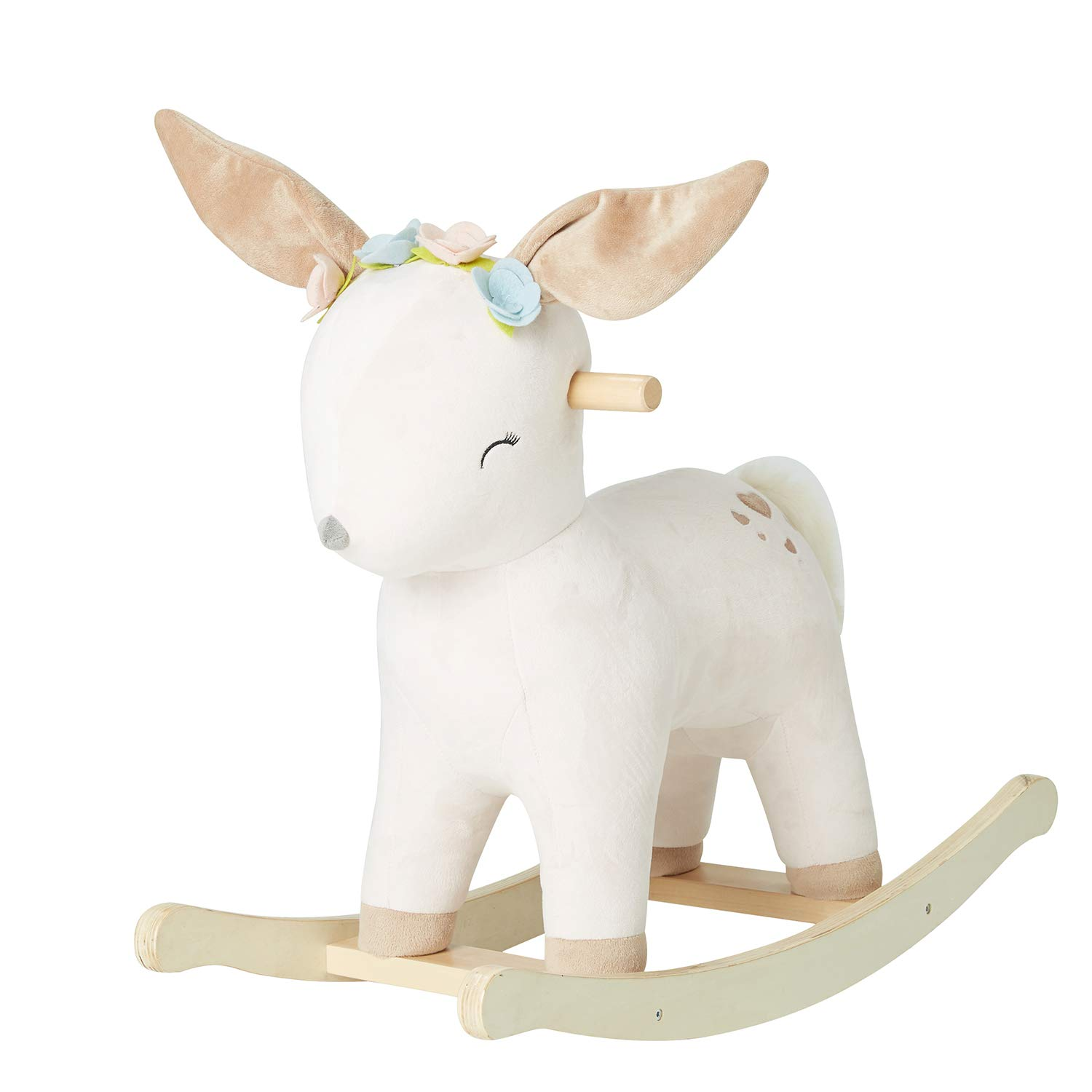 labebe 【New】 Baby Rocking Horse Plush, Female Deer Rocker Toy for Child 1-3 Years, Fawn Rocking Horse/Deer Rocker/Deer Rocking Horse/Ride On Toy/Rocking Horse for Toddler/Rocking Chair for Baby