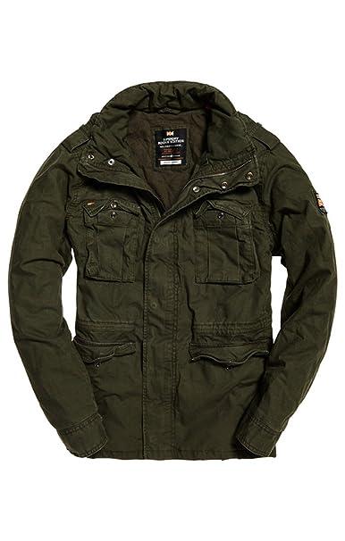 Superdry Classicrookiemilitaryjacket, Abrigo para Hombre: Amazon.es: Ropa y accesorios