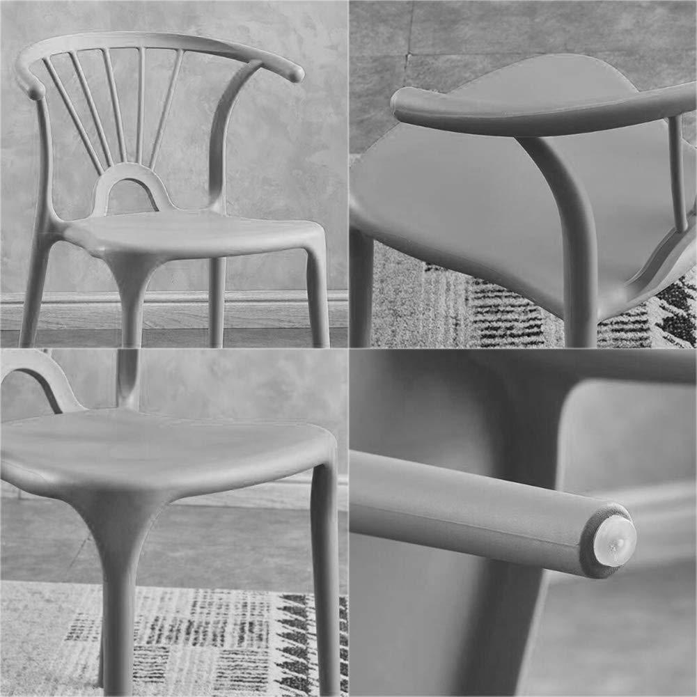 Set med 4 matsalsstolar balkongstol konferensstol kontorsskrivbord besökarstol – med ryggstöd (höjd: 75 cm) – kontor gäststol G