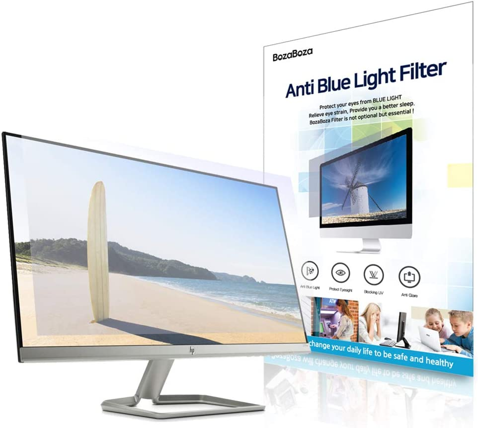 "(BOZABOZA) 21"" Wide Anti Blue Light Screen Filter [Ant-Blue Light] [Anti-Glare] [Anti-Scratch] [Matte or Gloss] Filtering Out Blue Light for Laptop, Notebook, LCD, Monitor, Display, 16 : 10"