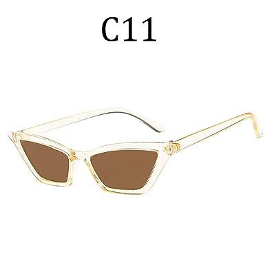 Amazon.com: Cat Eye Sunglasses Women men Vintage Transparent ...