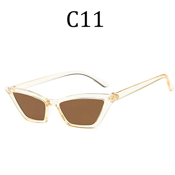 Amazon.com: Cat Eye Sunglasses Women men Vintage Transparent ...