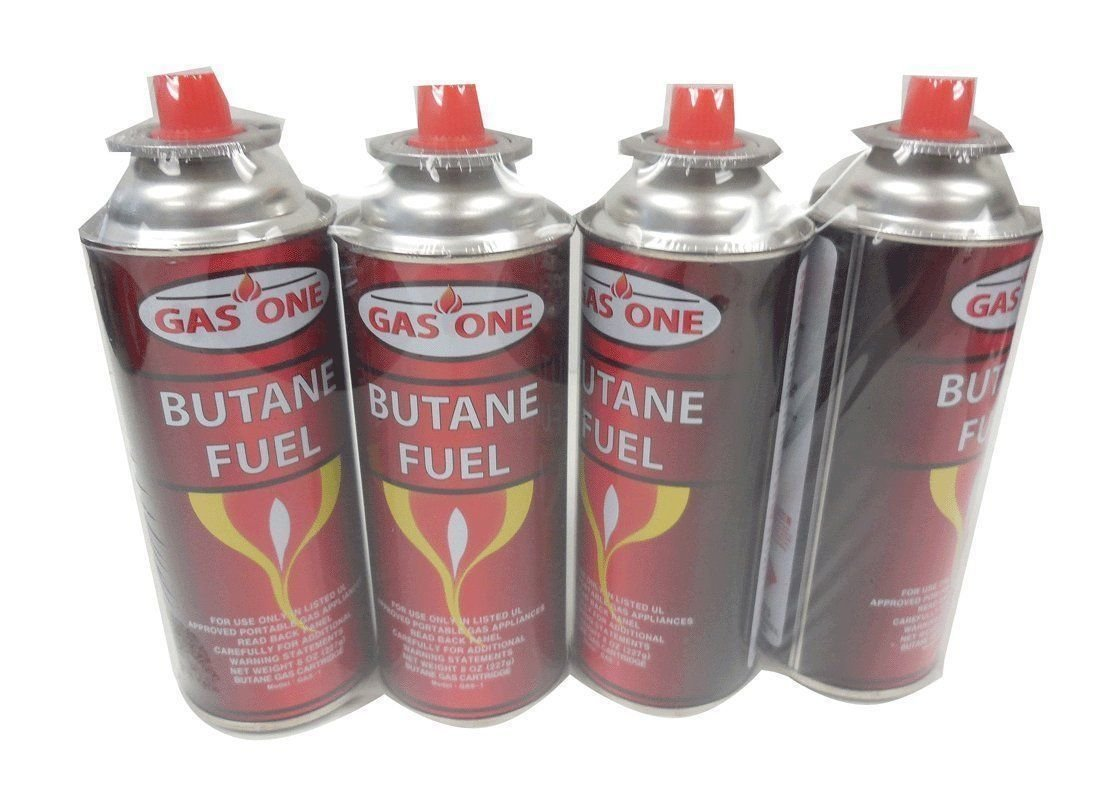 Eight (8) Gasone Butane Fuel Canister 8oz Portable Stove Burner Cartridge