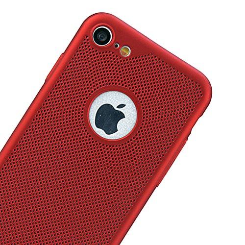 para iPhone 6s Respirable Funda de Malla de Aire, Vandot Ultra Slim Disipación de Calor Funda Duro PC Cáscara Back Case Cover Hard Shell Resistente a los Arañazos a Prueba de Golpes Diseño Heat Dissip SRK 02