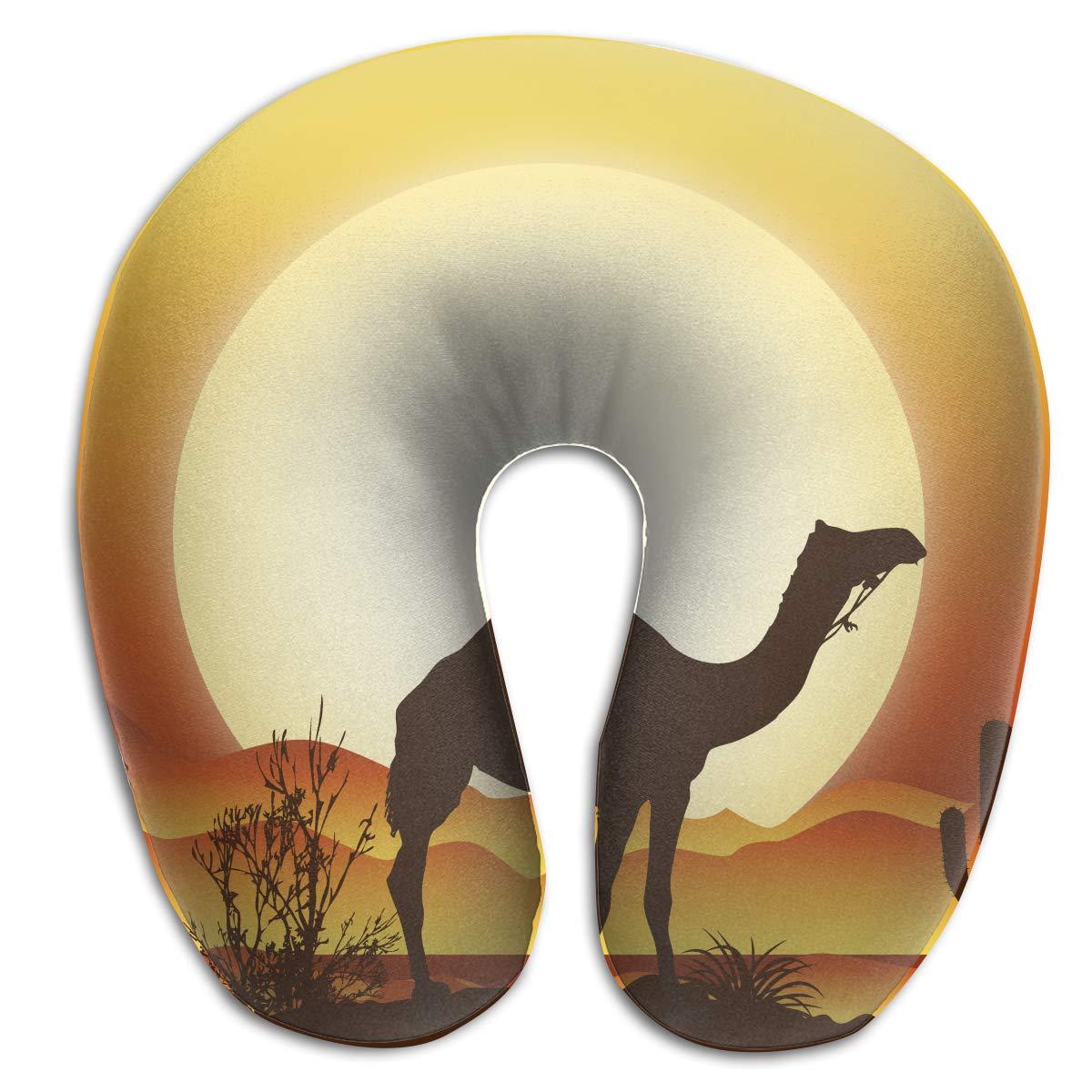 Amazon.com: Andromeda Sunset Desert Camel Graphic U Shaped ...
