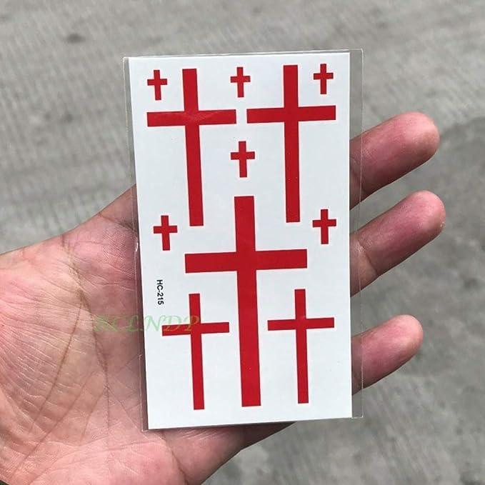 5 Piezas Etiqueta engomada del Tatuaje a Prueba de Agua pequeña ...