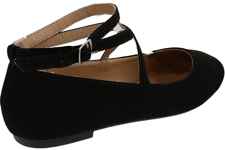 Top Moda Women's Brea-3 Strappy Ballet Flat (7.5 B(M) US, Black) by Top Moda (Image #4)