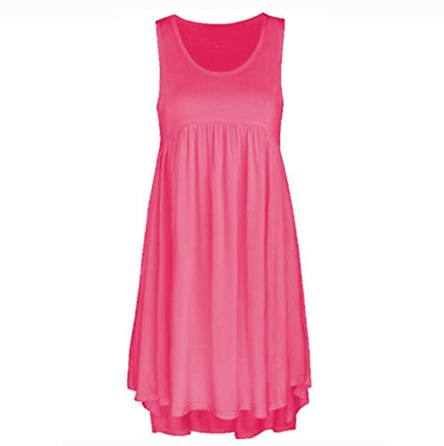 Summer Dresses for Toddler Girls,Women O Neck Casual Lace Sleeveless Above Knee Dress Loose Party Mini Dress,Pink,XXXXXL