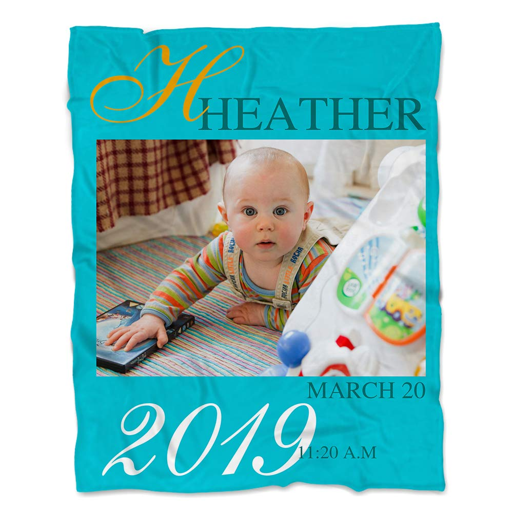 NICTIMEID Custom Blanket with Picture for Baby Boy or Baby Girl, 50''X60'' by NICTIMEID