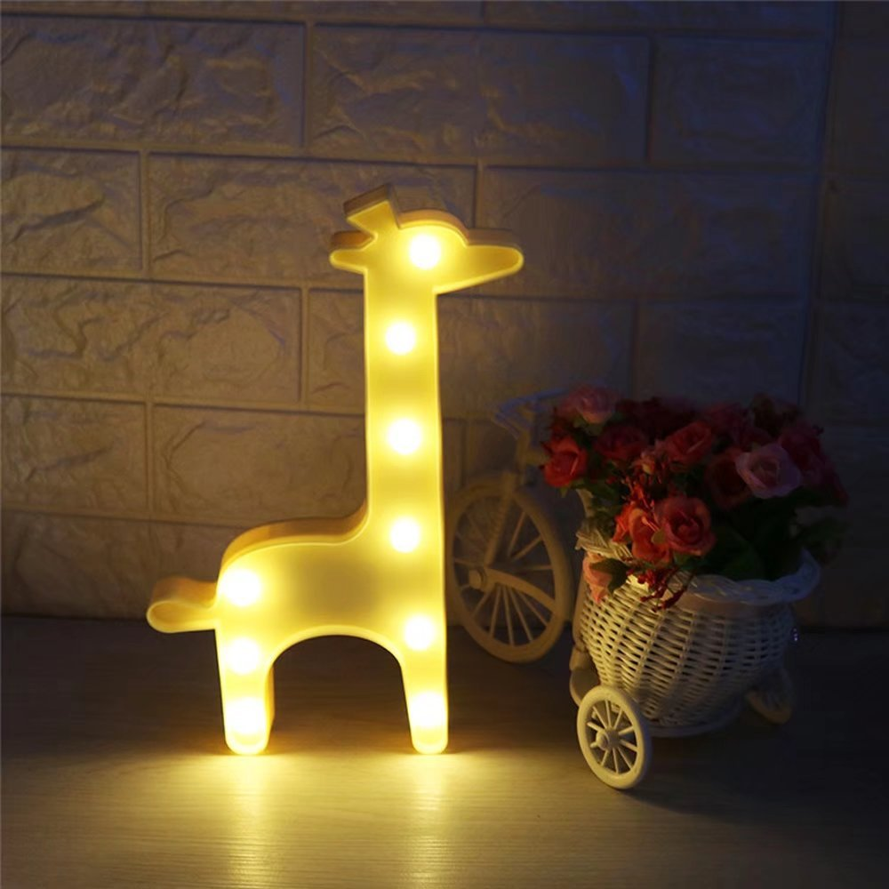 CSKB Giraffe LED Light Marquee Sign,Animal Marquee Sign LED Light with Battery Operated for Kids Wall Decor Chistmas Birthday Gifts Yellow