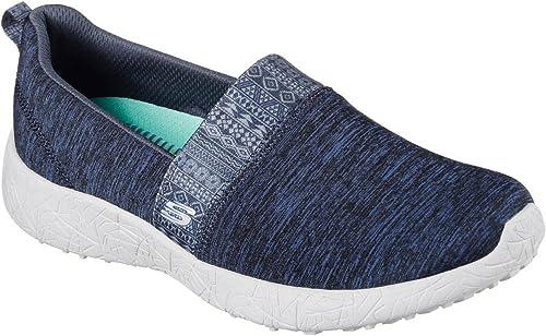 8f6936d1a5 Skechers Burst Blown Away Womens Slip On Sneakers Navy 7.5  Amazon ...