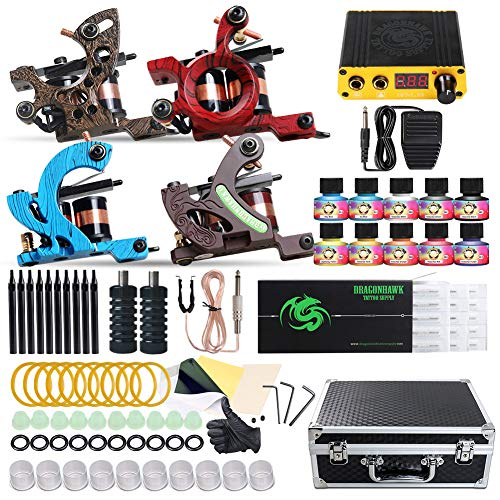 Dragonhawk Complete Tattoo Kit Cheap Tattoo Machine