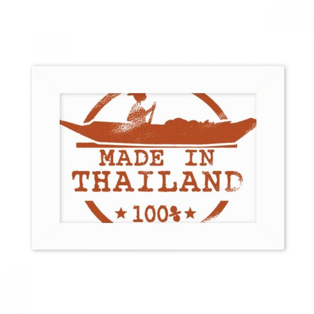 DIYthinker Kingdom of Thailand Kayaking Illustration Desktop Photo Frame White Picture Art Painting 5x7 inch by DIYthinker