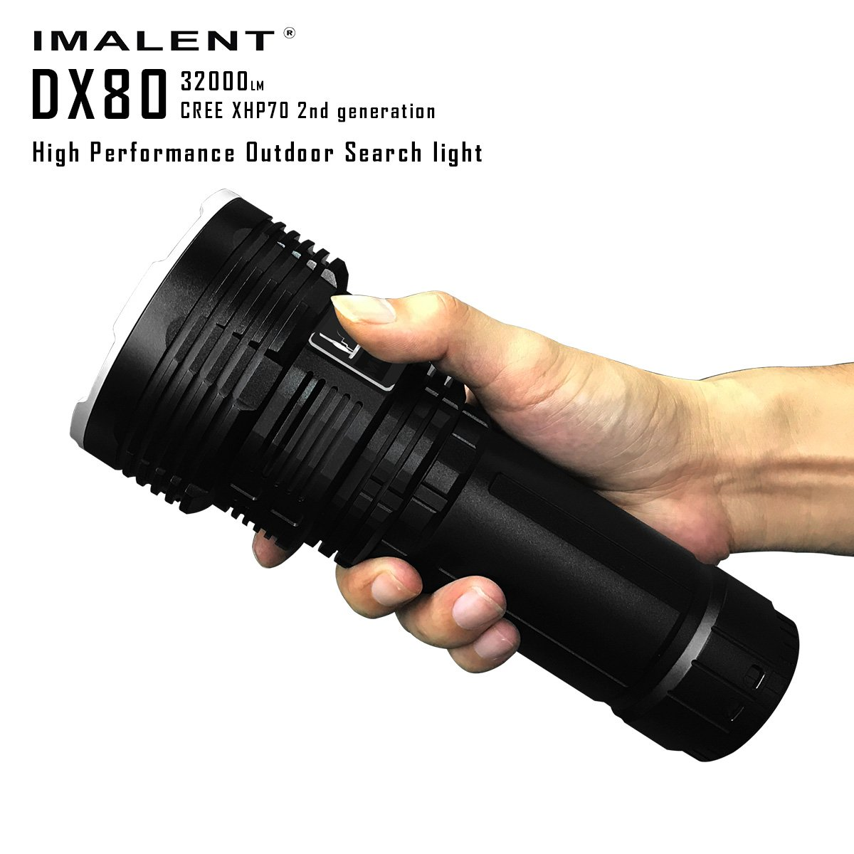 Imalent DX80 Kerry XHP70 32000lm The Most Powerful LED Flashlight Gives You The Feeling of The Day