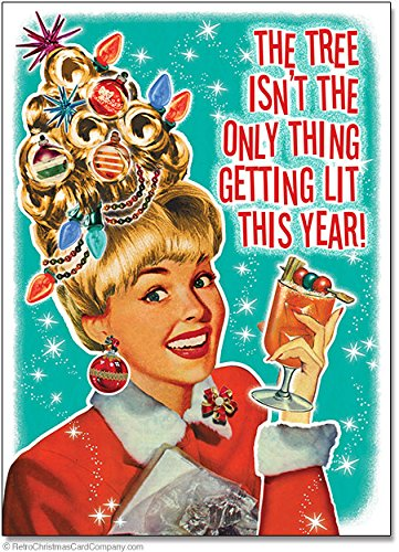 Funny Getting Lit Christmas Cards, Package of 8 (1950 Hairdos)