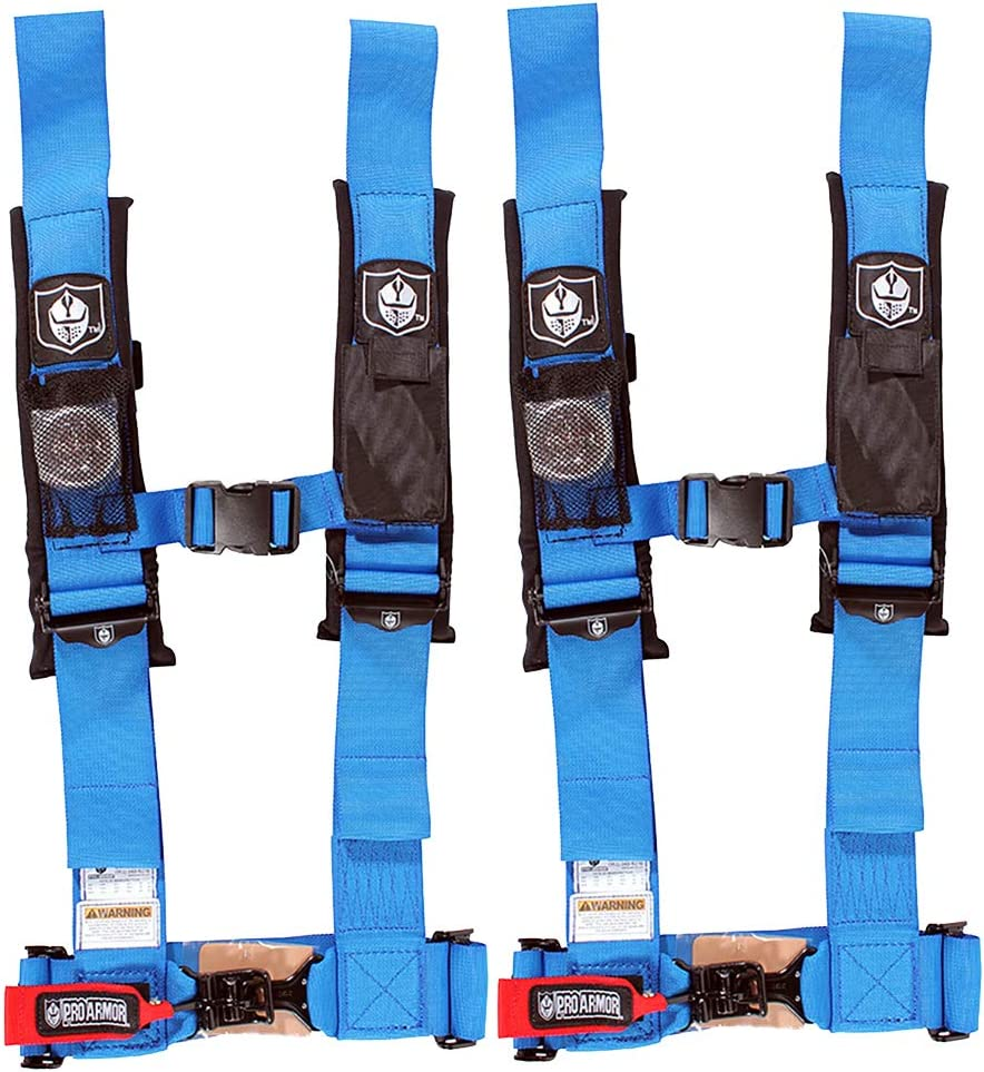 "Pro Armor 4 Point Harness 3/"" Padded Seat Belts BLACK RZR XP Turbo 1000 900 800"