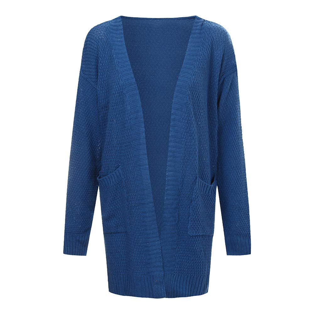 Paymenow Clearance Womens Open Front Oversized Cardigan Pockets Cable Knit Long Sleeve Sweaters Warm Tops\\n