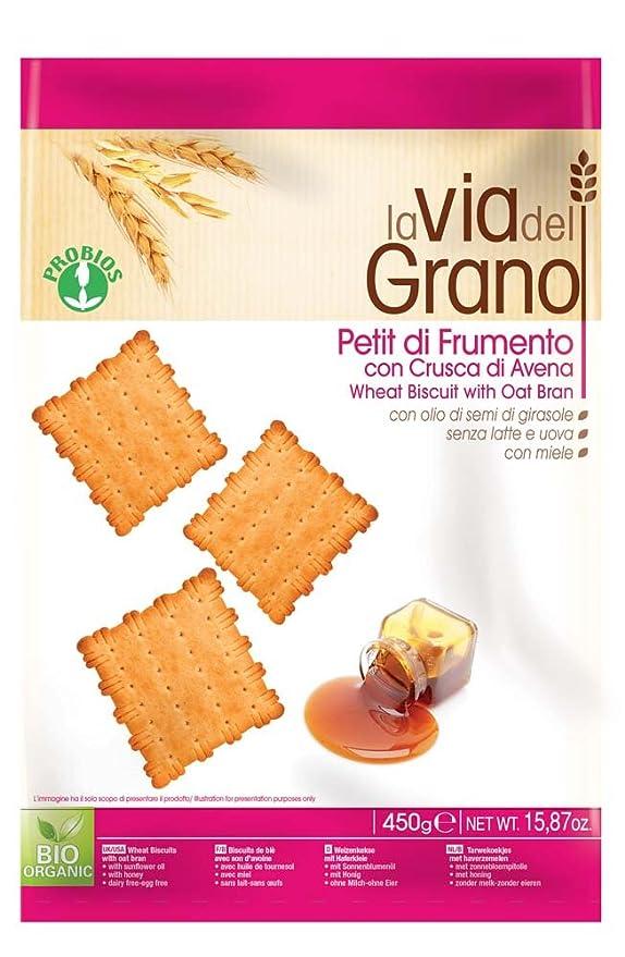 Probios La Via Del Grano Galletas con Salvado de Avena - Petit - 12 paquetes: Amazon.es: Alimentación y bebidas