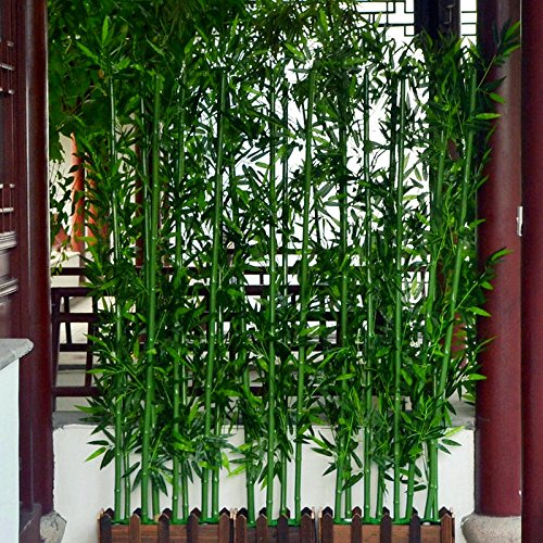 Fake bamboo decorative partition screen simulation of bamboo plants living room window shopping,A sets 1 meters high, 16 base