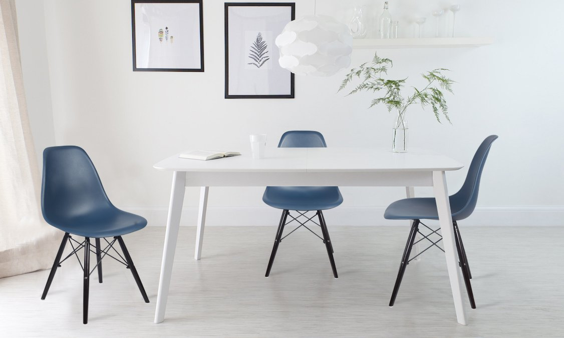 GIA Teal/Ocean Color Armless Home Office/Side Dining Chair(Set of 2) - Eames Style - Wood Legs - Seat Height 18 inch - Weight Capacity of 300+ Pounds - Easy Assembly - Extra Durable and Comfortable