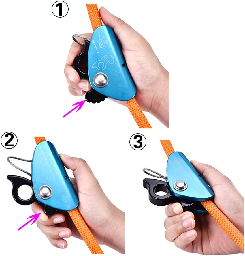 KKTECT Kit Flip Line con Anima in Filo dAcciaio 1//2* 8  Cordino Regolabile per Protezione anticaduta Alpinista Arboricoltore