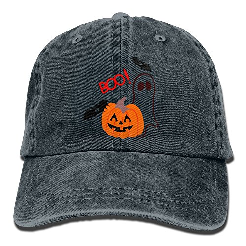 Uanqunan Happy Halloween Unisex Cotton Denim Baseball Cap Adjustable Strap Low Profile Plain Hats (Halloween Wars Season 1 Cast)