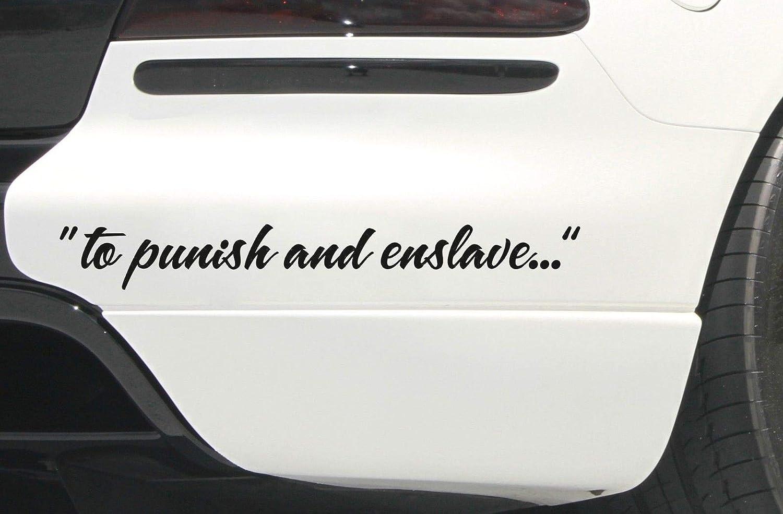 "/""To Punish /& Enslave.../"" Transformer Decepticon Window Car Truck 2"