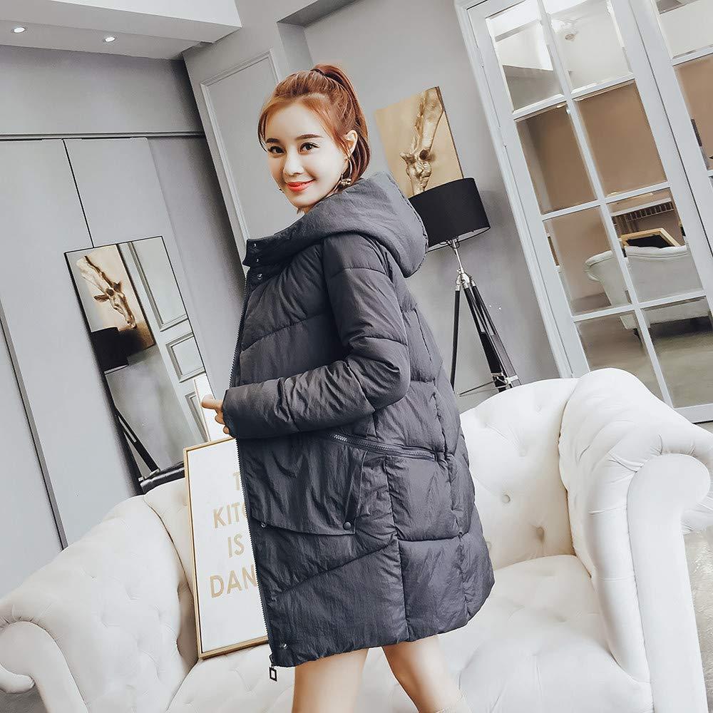 Longzjhd Damen Winterjacke Lange Dicke Warme dünne Mantel