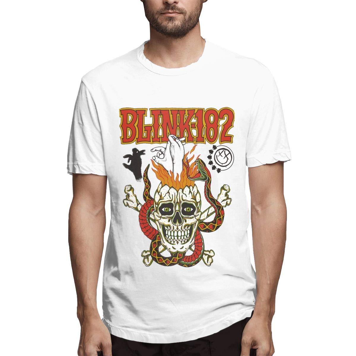 Lihehen Mans Blink 182 Fashion Leisure Round Neck Ts Shirts