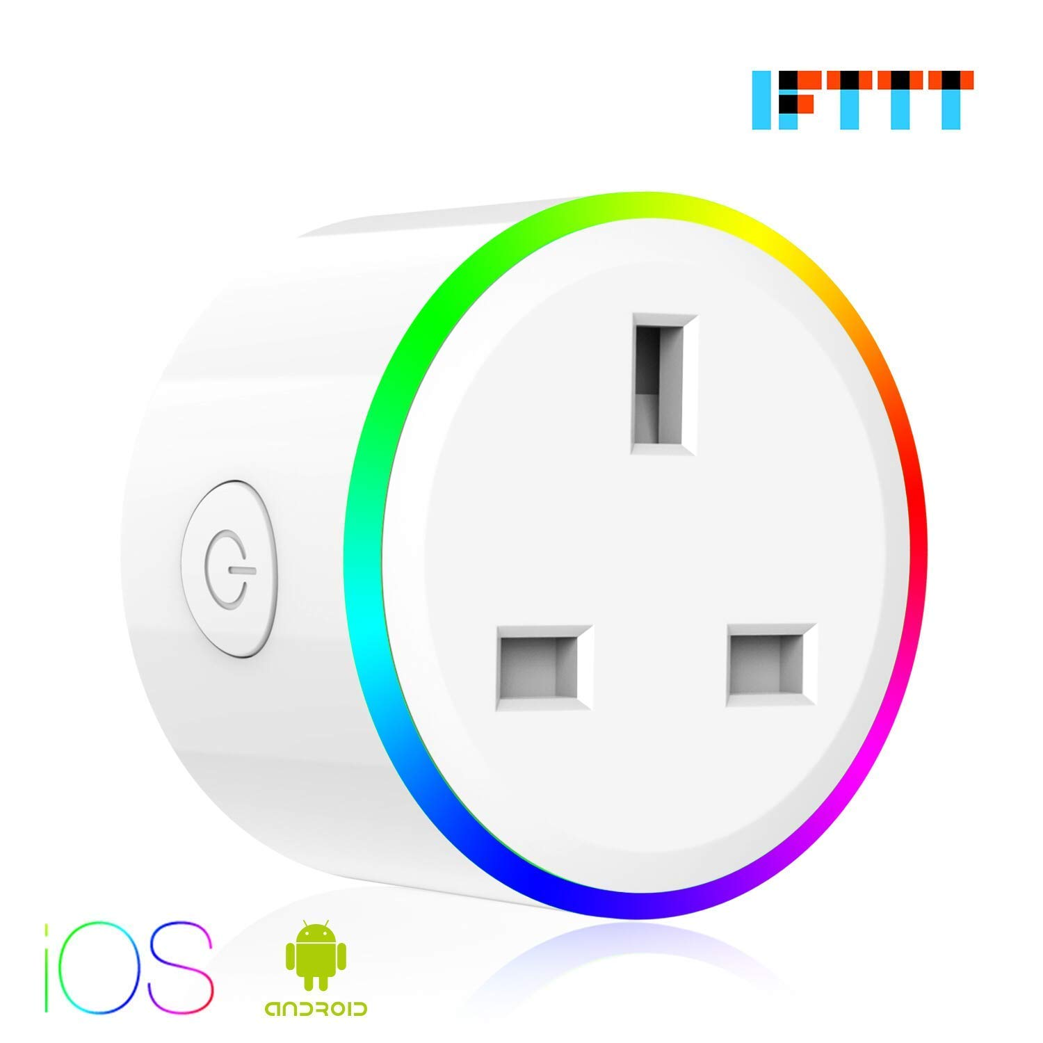 KUSSN WiFi Smart Plug, Mini Outlet Smart Socket, Works with  Alexa Google Home and IFTTT, Voice Control,Timing Function Energy Saving Assistant APP Remote Control, RGB 8 Scene mode. (2 Packs) XSZN