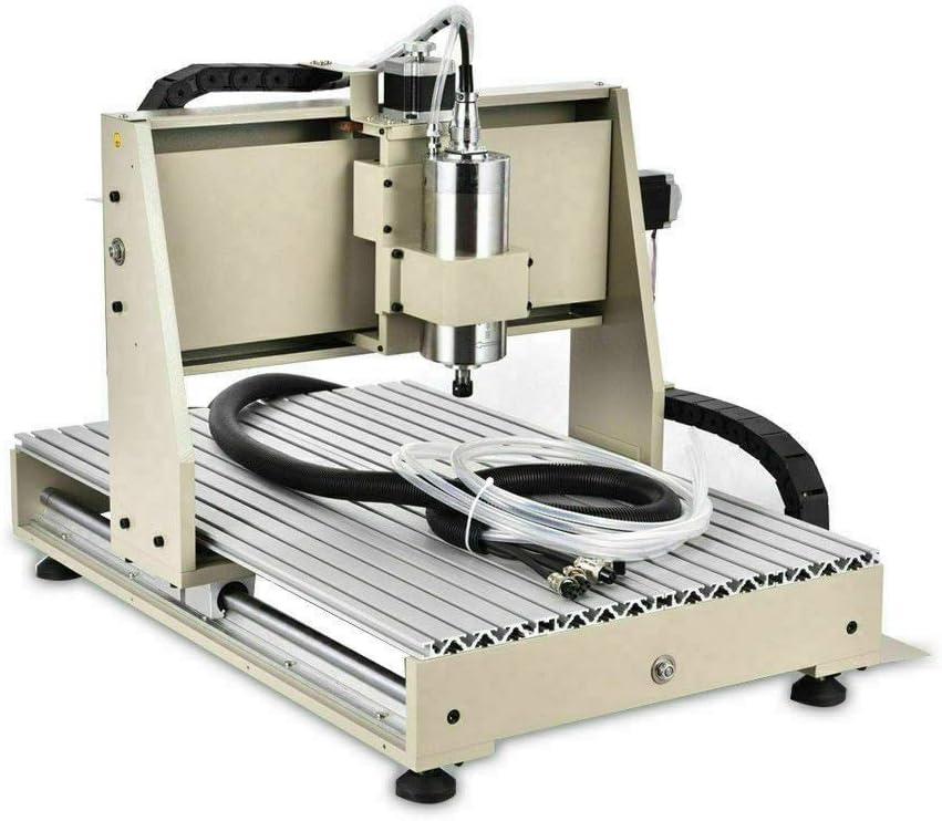 1500W 220V Husillo 4 ejes 6040 CNC Enrutador Grabadora Grabado 3D M/áquina de Corte Grabado Fresadora Talla M/áquina Conexi/ón USB