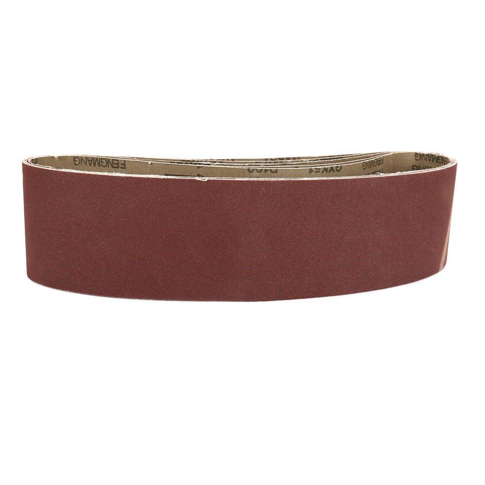 2x82 Grinding Polishing Aluminum Oxide Sander Sanding Belts 5-Pack Grit 240#