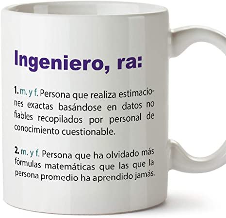 MUGFFINS Tazas Desayuno Originales de Profesiones para Regalar a Trabajadores Tazas para Ingenieros - Tazas con Frases y Mensajes alegres y Divertidos: Amazon.es: Hogar