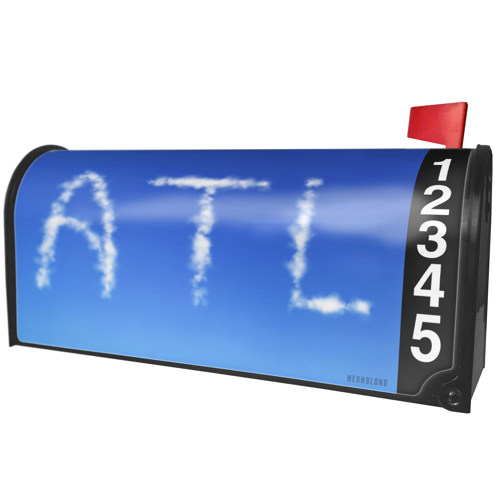 NEONBLOND ATL Clouds Fresh Air Magnetic Mailbox Cover Custom Numbers