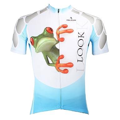 Paladin Cycling Jersey Women Short Sleeve Frog Pattern Bike Shirt Size M 81eed673a