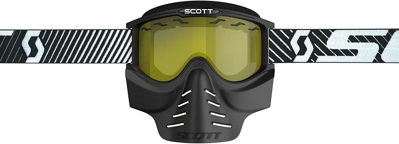 Scott 83x Safari Cross Mtb Paintball Goggle Inkl Facemaske Brille Schwarz Gelb Sport Freizeit