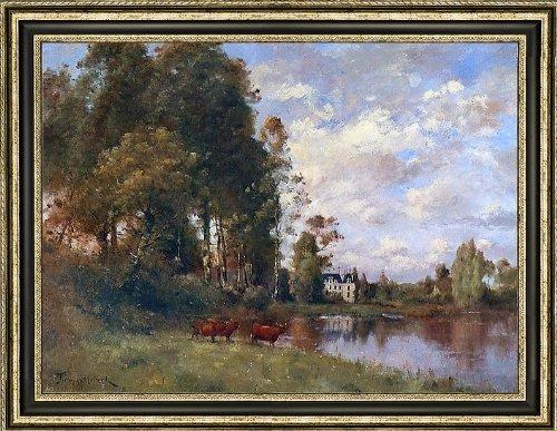 "Paul Desire Trouillebert The River - 21.5"" x 28.5"" Framed"