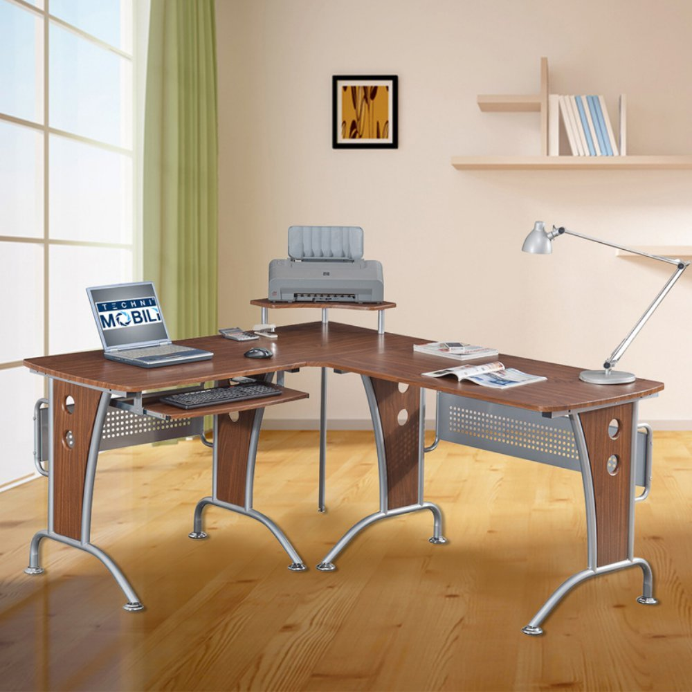 Amazoncom Space Saver Computer L Desk Kitchen  Dining