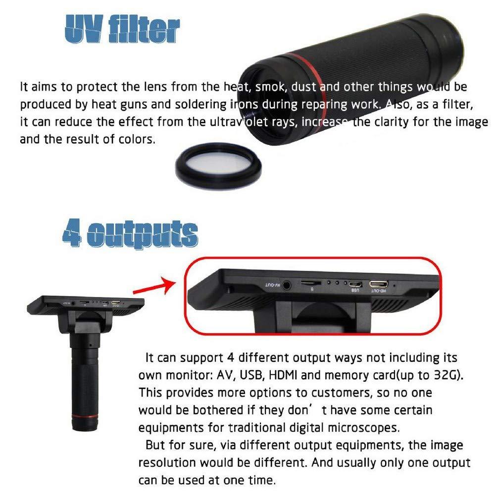 Microscopio Digital ADSM302 con Amplificador de c/ámara Industrial de 5 Pulgadas con USB 1080P Full HD