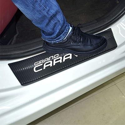 SENYAZON Car Threshold Pedal Sticker for Dodge Grand Caravan Decoration Scuff Plate Carbon Fibre Vinyl Sticker Car Accessories car-Styling (White): Automotive