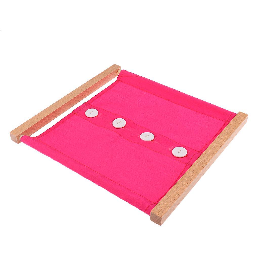 Knopf Kleidung Box f/ür Kinder Vorschule Spielzeug MagiDeal Montessori Material