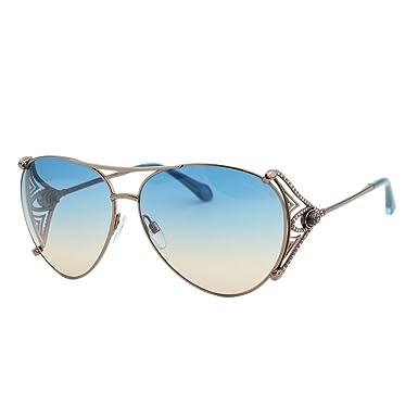 ffa94c37de 2018 Roberto Cavalli Fucecchio RC1057 34W Women Bronze Metal Snake Aviator  Sunglasses