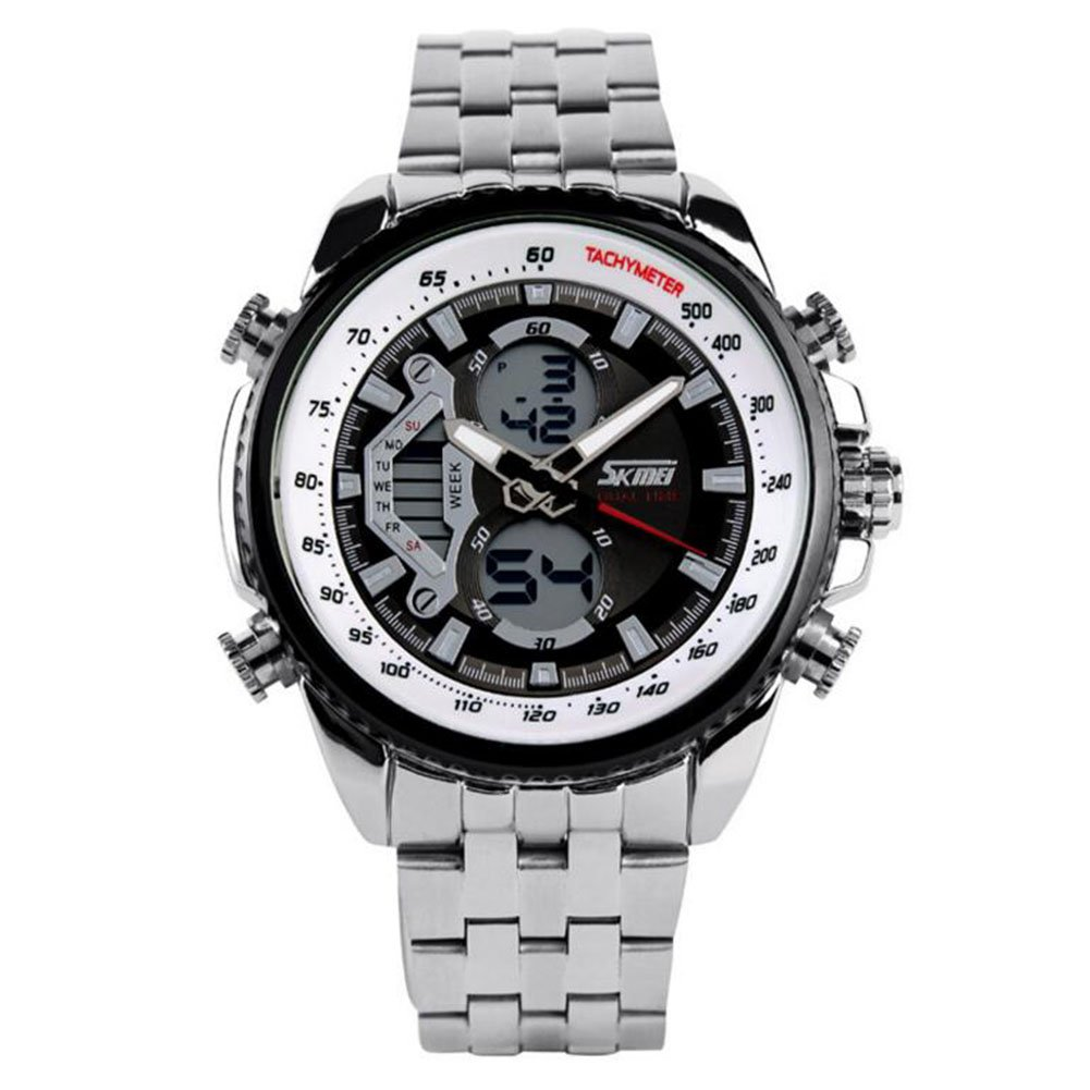 Men's Mechanical Watch Dress Watch Automatic Calendar/Date/Day Chronograph Water Resistant Commerce Watch (Style : A)